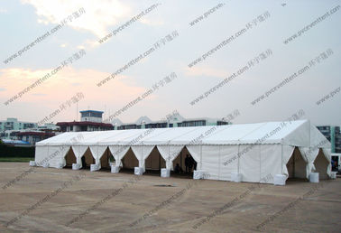 China 6*30M Temporary Aluminum Frame White PVC Cover  Outdoor Canopy Tent for Exhibition / Party / Event etc supplier