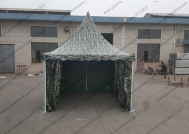 China Waterproof Camouflage High Peak Canopy 3m x 3m Pagoda Type Strong For Army / Military supplier