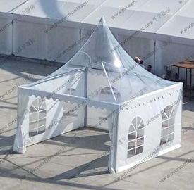 China 4m x 4m Clear Marquee Tent Aluminum Transparent Portable Temporarily Installed supplier