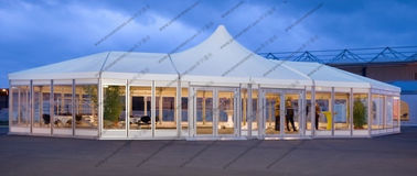 China Custom Made Mixed High Peak Wedding Party PVC Tent For 500 Person capacity Event supplier