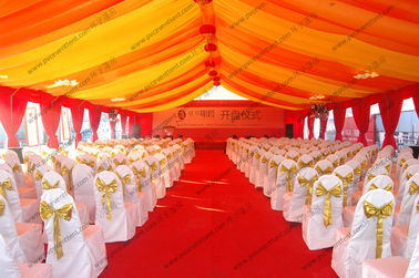 China 400 Capacity Huge Gala Aluminum Tent With Luxury Lining For Parties And Outdoor Event supplier