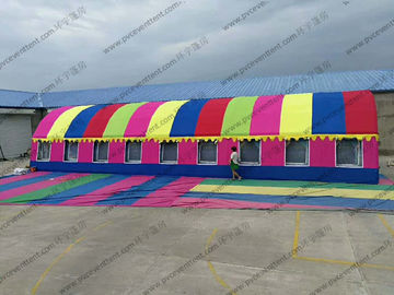 China Colorful Semicircle Inflatable Dome Tent PVC Waterproof With Luxury Lining Decoration supplier