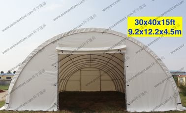 China Semicircle PVC Play Tent Professional 30 x 40 x 15ft Waterproof Single Tubular supplier