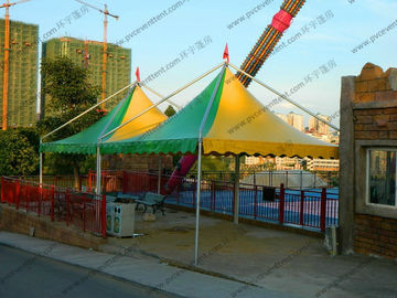 China Mini Colorful Gazebo Canopy Tent Green And Yellow High Peak Flame Retardant supplier