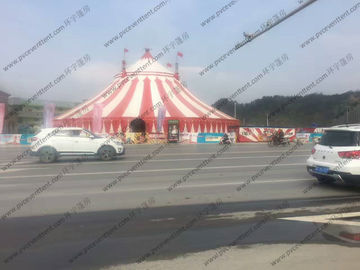 China PVC Pagoda Canopy Red And White Roof Cover High Peak For Outdoor Event Trade Show supplier