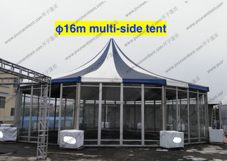 China PVC Fabric Polygon Tent Multi - Side , ISO 9001 Approved Pagoda Canopy Tent supplier