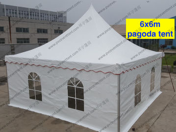 China Mini Waterproof High Peak Tents / Peak Pole Tent With Transparent Sidewalls supplier