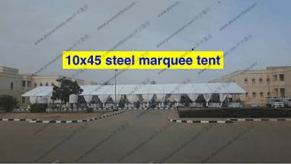 China Extravagant Outside Wedding Canopy Tent 10 x 45m With Curtain For Wedding Party supplier