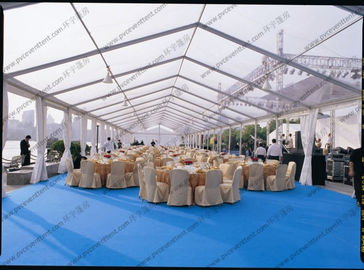 China PVC Roof Cover Transparent Marquee Tent , Business Use Clear Top Marquee Inside Decoration supplier
