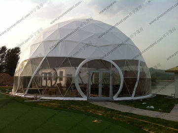 China Large Aluminium Geodesic Dome Tent PVC Professional Easy Transportation Trouble Free supplier