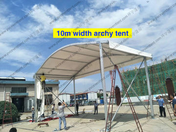 China 12 To 15m Width Clear Span Archy Storage Tent Aluminum Structure With ABS Wall System supplier