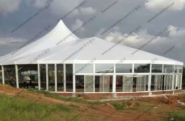 China Aluminum Frame Outdoor Circus Tent Combination With Glass Windows For Africa Event supplier
