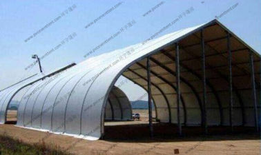 China Fire Retardant Curved Tent Outdoor Party , Heavy Duty Tents With White PVC Fabric supplier