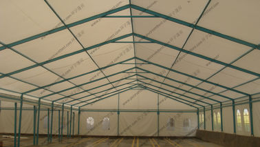 China Blue Colored Portable Storage Tents Waterproof Steel As Semi - Permanent Warehouse supplier