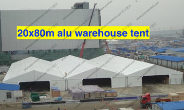 China Wind Resistance Warehouse Storage Tent Aluminum Structure PVC With AC System supplier