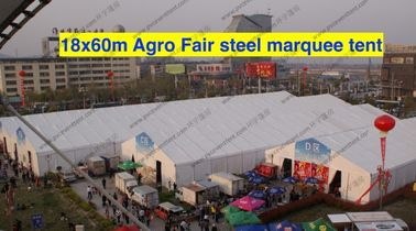China Inflatable Roof Cover Outdoor Show Tents 18 x 60m Plat Form Inside For Trade Show supplier