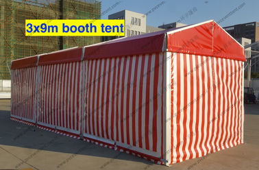 China Tear Resistant Outdoor Exhibition Tents 3 x 9m Red And White Glass Solid Wall Strong supplier