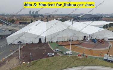 China High Reinforced Aluminum Custom Trade Show Tents 30m / 40m For Outdoor Trade Show supplier