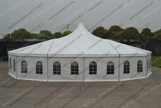China Customized Mixed High Peak Multi-side Tent For Wedding Party supplier