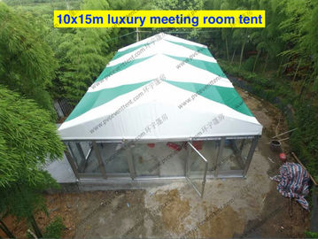 China Colorful PVC Cover with Inside Lining Decoration and Glass Sidewalls for Outdoor Event as Business Meeting or Patry supplier
