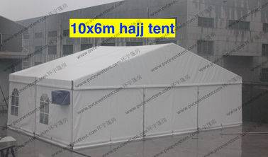 China PVC Canvas White Commercial Storage Tents 10 x 6m Transparent Church Windows AC System supplier