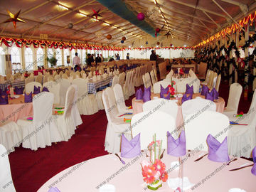 China 25*50m White Big PVC Party Tent Close to Riverside For Christmas supplier