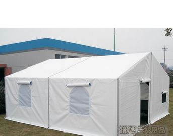 China 6m Width White Military Army Tent Waterproof Pvc Cover With Screen Windows supplier