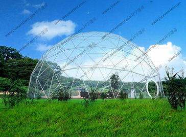 China Outdoor Dome Shaped Tent With Inside Decoration , Customized Transparent Dome Tent supplier
