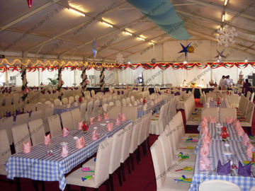 China White Marquee Wedding Event Tents Waterproof Oem For Outdoor Celebration supplier