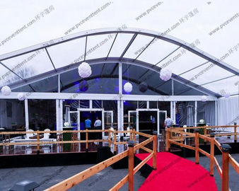 China Ceremony / Celebration Party Arch Curved Tent Luxury Aluminum Alloy With Eave supplier