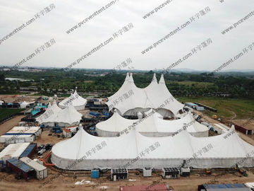 China Luxury White Membrance Structure Outdoor Circus Tent In Shopping Center / Mall / Plaza supplier