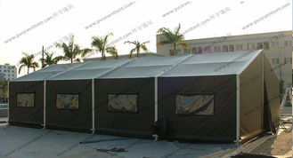 China 6x12M Green Military High Peak Tent For Outdoor Army Use , Pvc Canvas Tent supplier