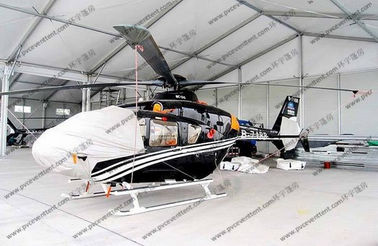 China White Waterproof Aircraft Hangar Tent For Helicopter Parking Or As Hanger Shelter supplier