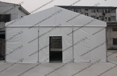 China 6x9M White Small Size Outdoor Party Tents PVC Screen Windows And Rolling Cover supplier