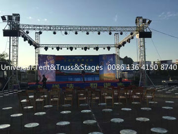 China Bolt Aluminum Stage Truss For Outdoor Event , Custom Design Aluminum Triangle Truss supplier