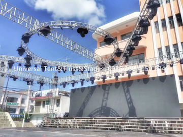 China Mini Aluminium Lighting Truss Stand Pipe Outdoor Stage Box Roof Circle Truss Alu Cable Milos supplier