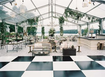 China Aluminum Structure Clear Tent Wedding Reception With Waterproof Pvc Cover For Outdoor supplier