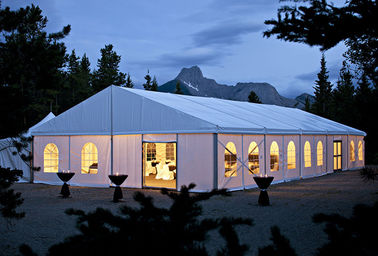 China 25x50M Large Event Tents With Flooring / Wind Resistant Outdoor Party Tents supplier
