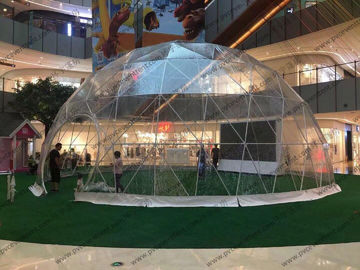 China Luxury Waterproof Transparent Geodesic Dome Tents For Outdoor event / Show / Ceremony / Exhibitions supplier