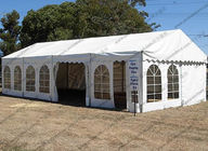 China Hot - DIP Galvanized PVC Canopy Tent White 6 x 12m With Transparent Church Windows factory