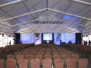 Huge Gala Outdoor Circus Tent With Luxury Lining Glass Door For Open - Air Event Party