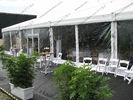 China Luxury Decoration PVC Party Tent Transparent Sidewalls White For Outdoor Hotel Event factory