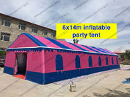 China Colorfull PVC Event Tent 6 x 14m , Large Event Tents Inflatable With PVC Windows factory