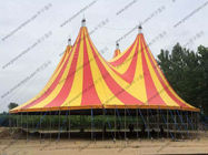 China Yellow / Red Outdoor Event Tent PVC Roof Covering High Peak Used For Open - Air Party factory