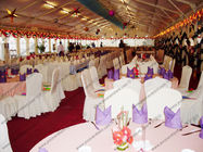 25*50m White Big PVC Party Tent Close to Riverside For Christmas
