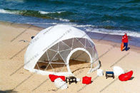 Beach Transparent Geodesic Dome Tent Oem Waterproof With Floor Sytem