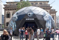 China SAMSUNG Geodesic Dome Shelter For High Level Event Organizers , Companies factory