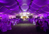 Outdoor Parties Wedding Event Tents With Beautiful Lights Show And Decoration Linging