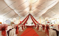 Wedding Tent with White PVC Cover Aluminum Frame and Luxury Decoration for Sale
