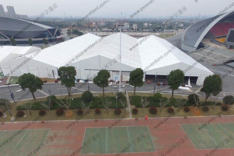 Large Outdoor Show Tents Modules Inflatable Roof Cover Simple Cette Flooring